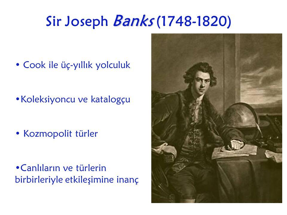 Sir Joseph Banks (1748-1820) Cook ile üç-yıllık yolculuk