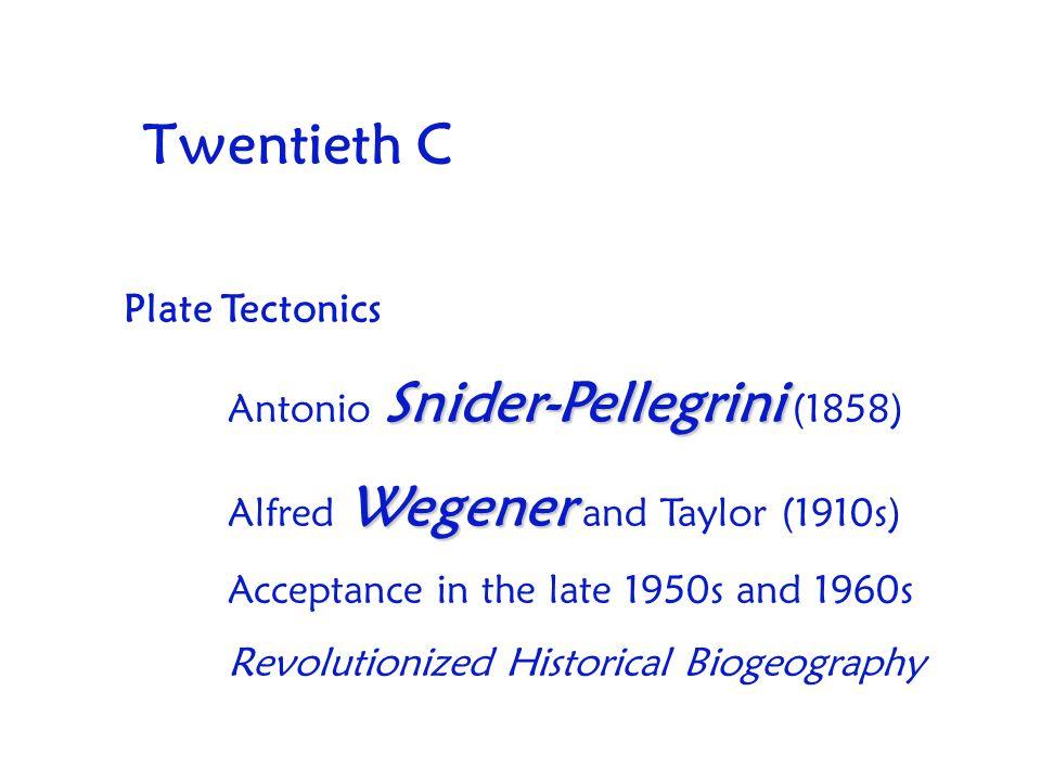 Twentieth C Plate Tectonics Antonio Snider-Pellegrini (1858)