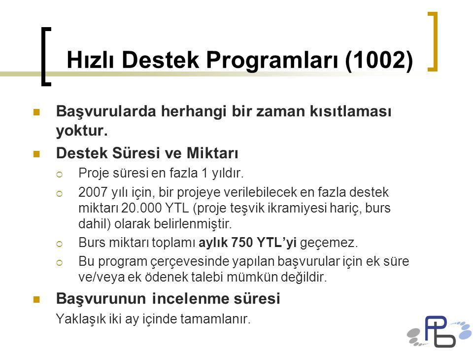 Hızlı Destek Programları (1002)
