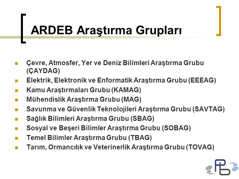 ARDEB Araştırma Grupları