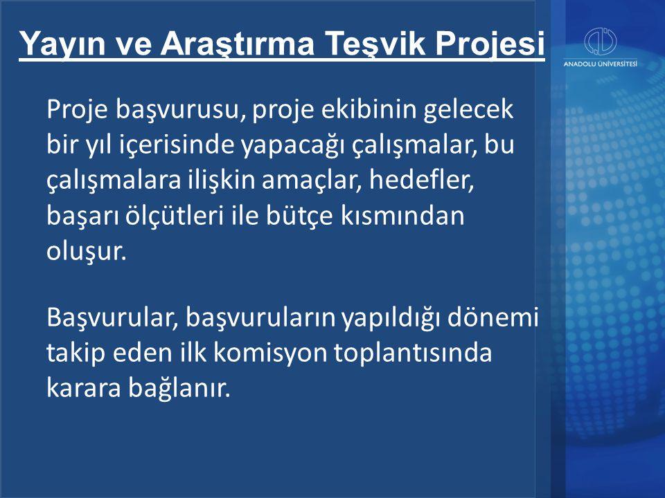 Yayın ve Araştırma Teşvik Projesi ÜNİVERSİTE-SEKTÖR İŞBİRLİĞİ