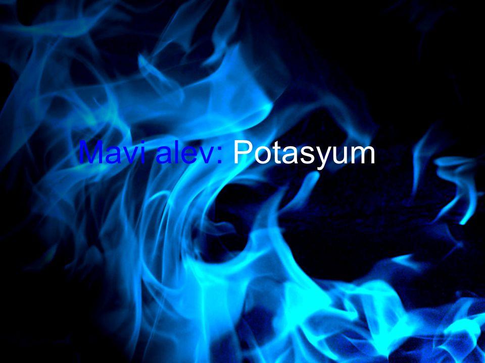 Mavi alev: Potasyum