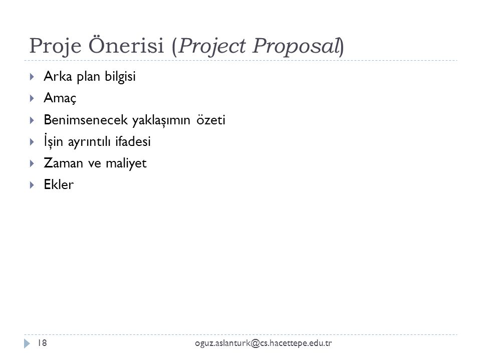 Proje Önerisi (Project Proposal)