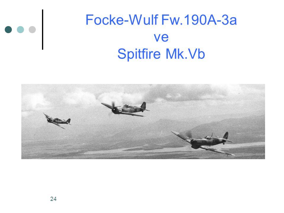 Focke-Wulf Fw.190A-3a ve Spitfire Mk.Vb