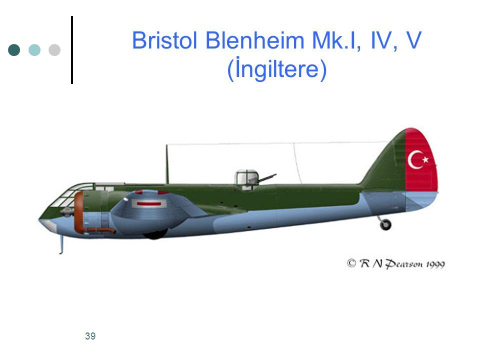 Bristol Blenheim Mk.I, IV, V (İngiltere)