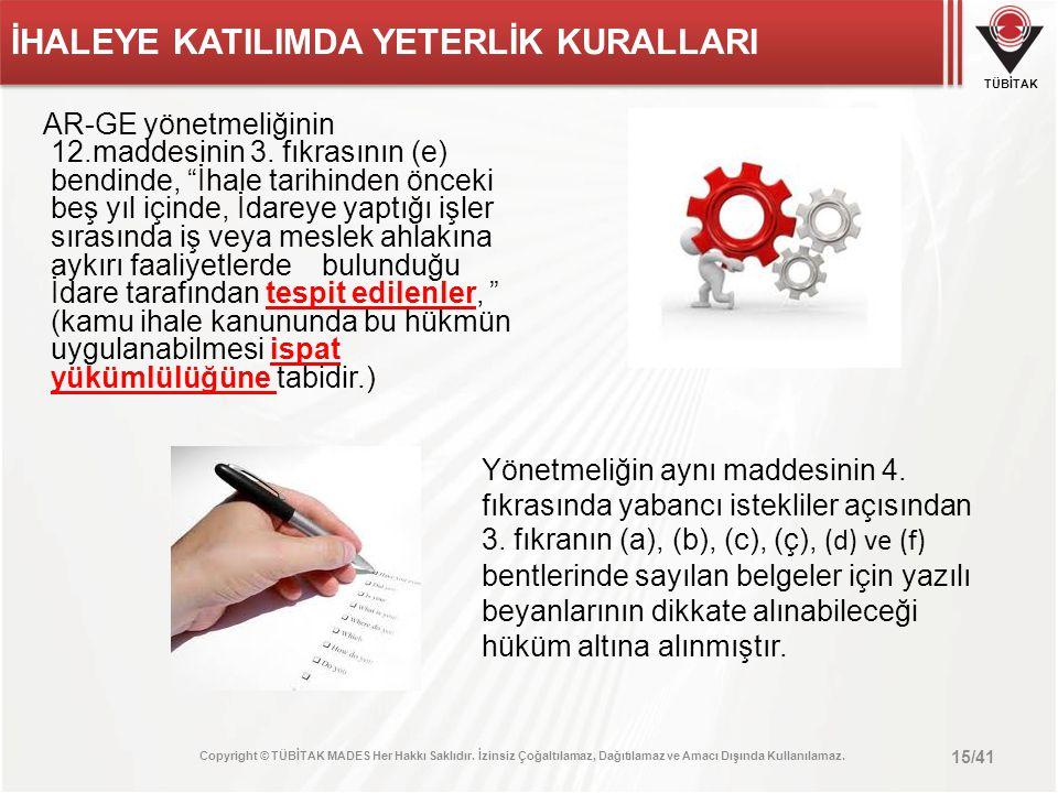 İHALEYE KATILIMDA YETERLİK KURALLARI