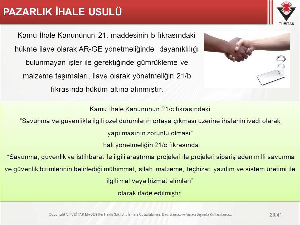 PAZARLIK İHALE USULÜ