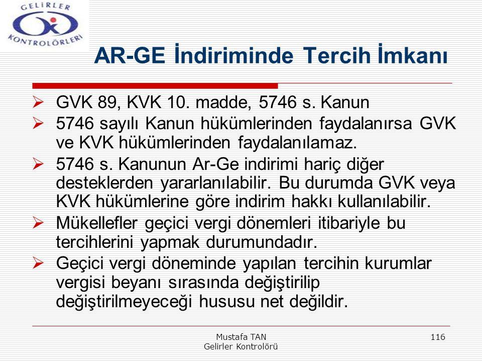 AR-GE İndiriminde Tercih İmkanı
