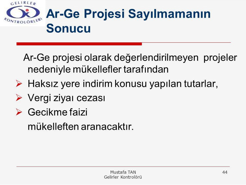 Ar-Ge Projesi Sayılmamanın Sonucu