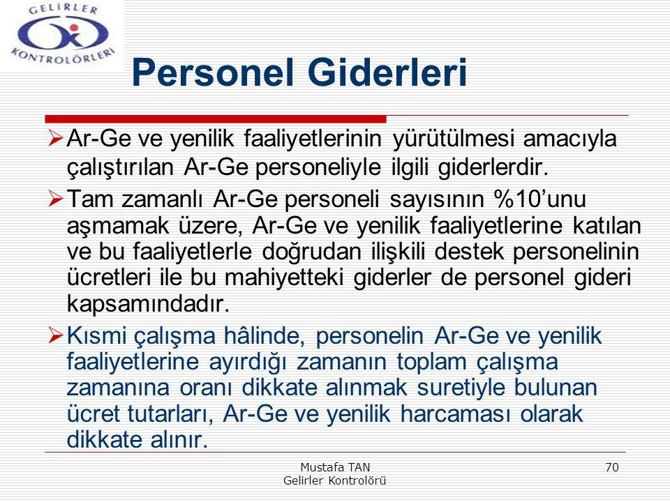 Mustafa TAN Gelirler Kontrolörü