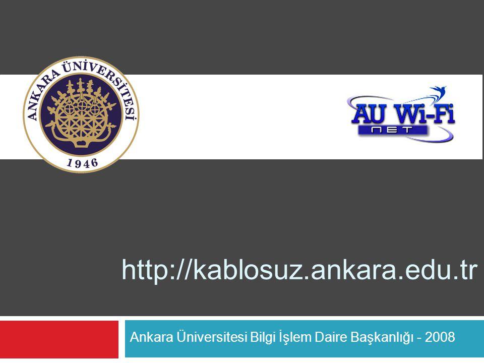Ankara Üniversitesi Bilgi İşlem Daire Başkanlığı - 2008