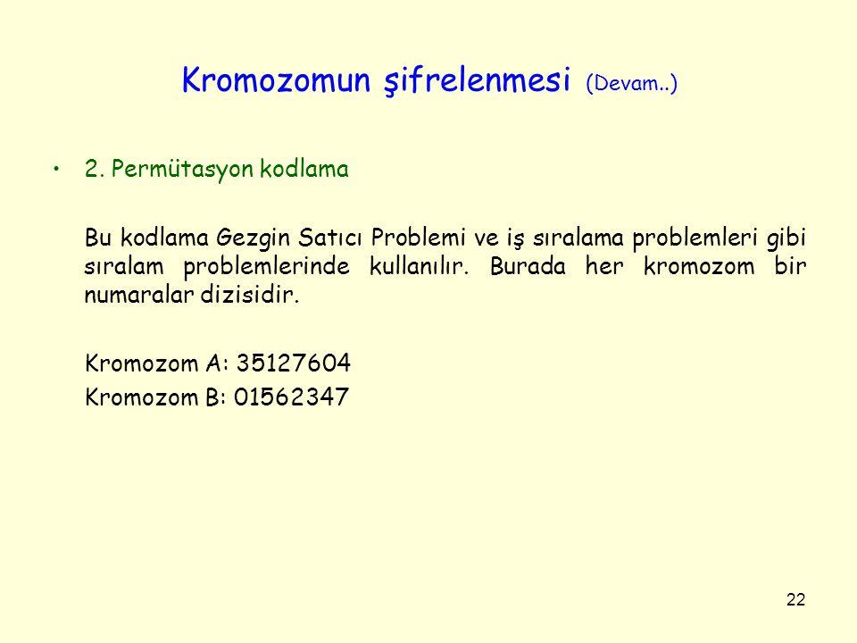 Kromozomun şifrelenmesi (Devam..)