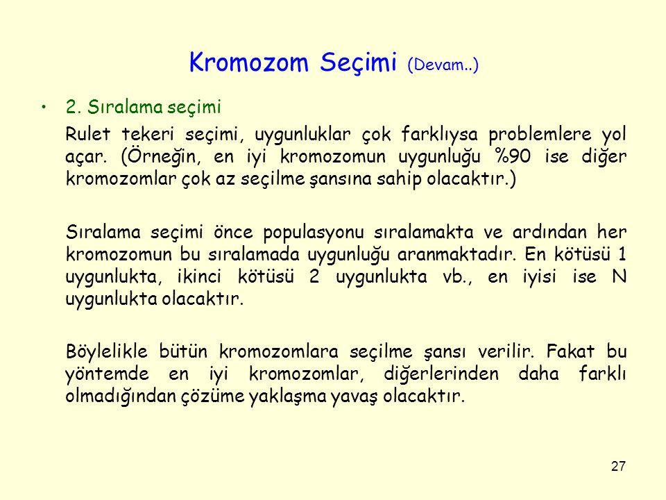 Kromozom Seçimi (Devam..)