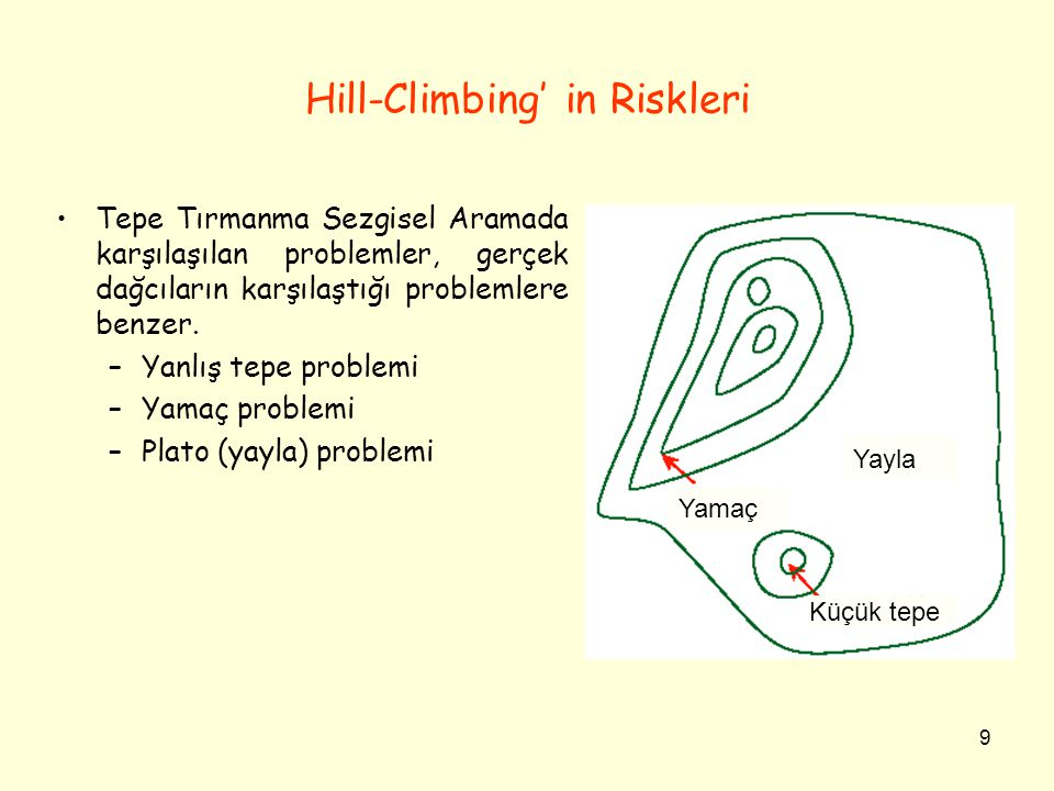 Hill-Climbing' in Riskleri
