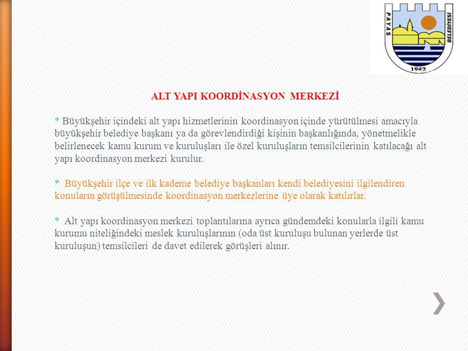 ALT YAPI KOORDİNASYON MERKEZİ