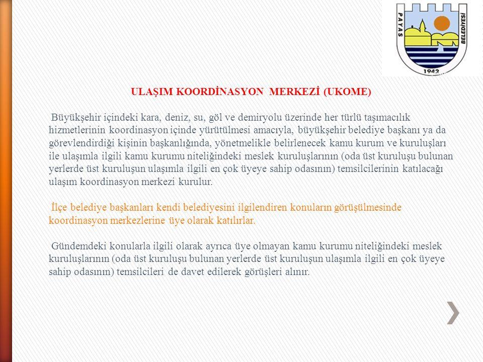 ULAŞIM KOORDİNASYON MERKEZİ (UKOME)