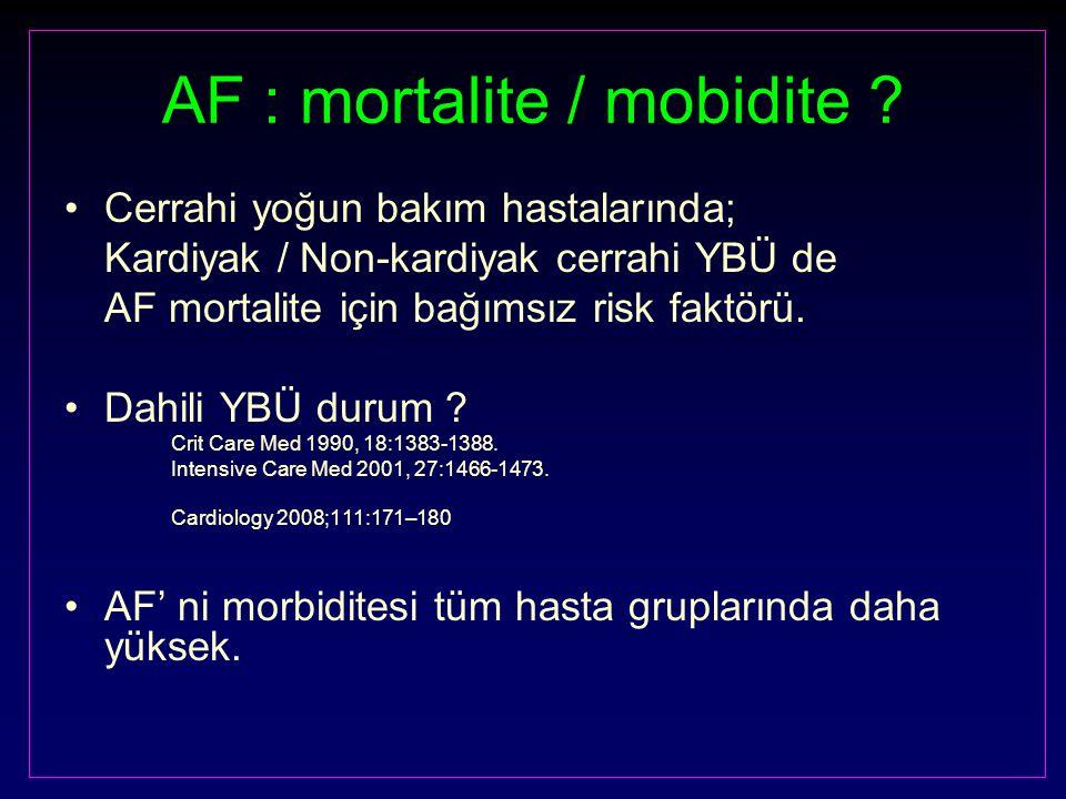 AF : mortalite / mobidite