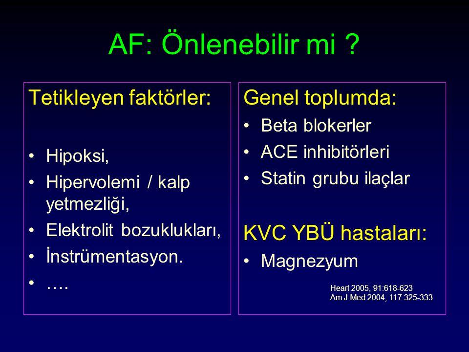 AF: Önlenebilir mi Tetikleyen faktörler: Genel toplumda: