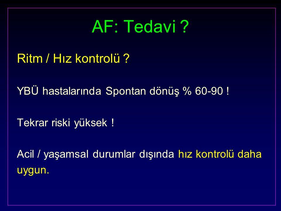 AF: Tedavi Ritm / Hız kontrolü