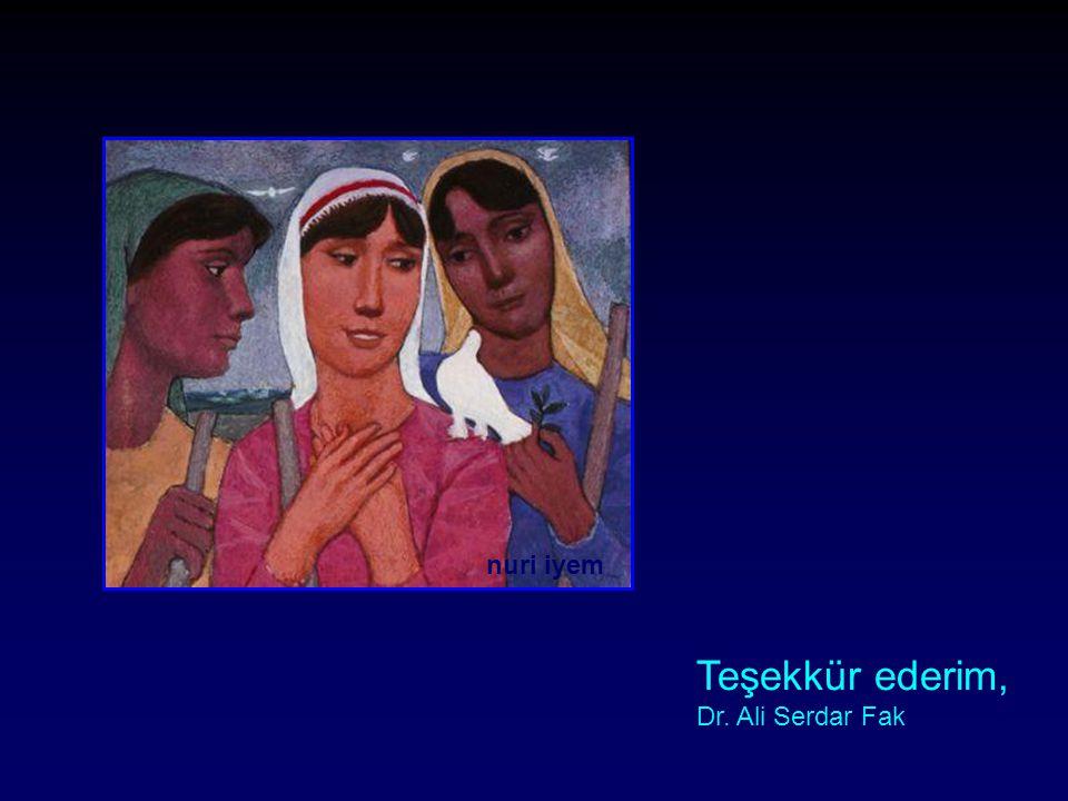 nuri iyem Teşekkür ederim, Dr. Ali Serdar Fak