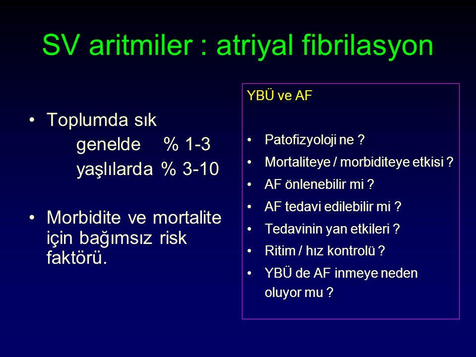 SV aritmiler : atriyal fibrilasyon