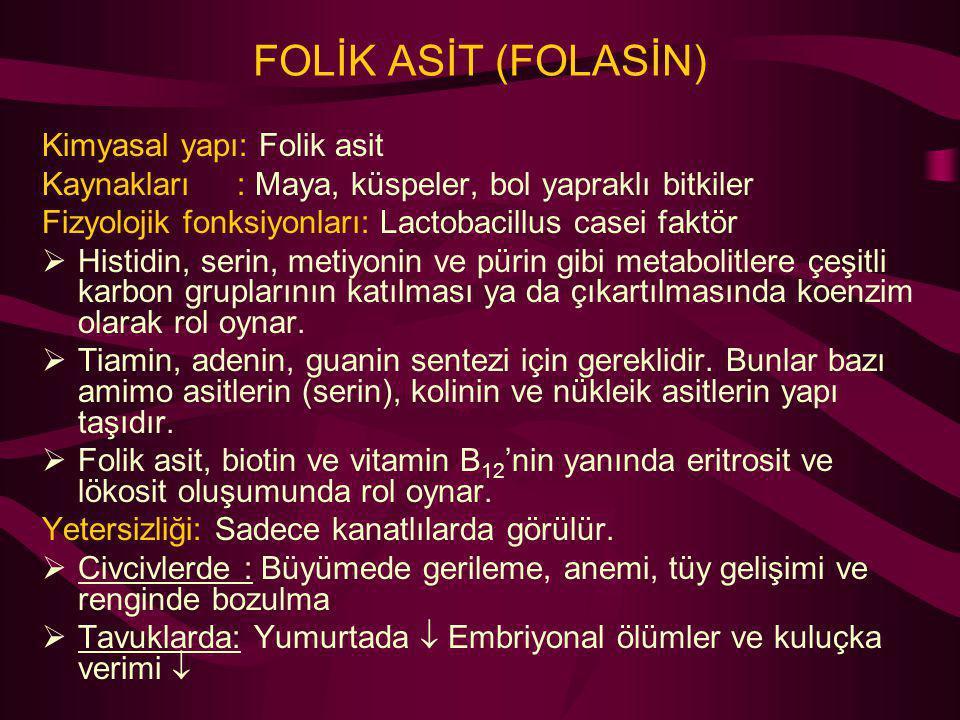 FOLİK ASİT (FOLASİN) Kimyasal yapı: Folik asit