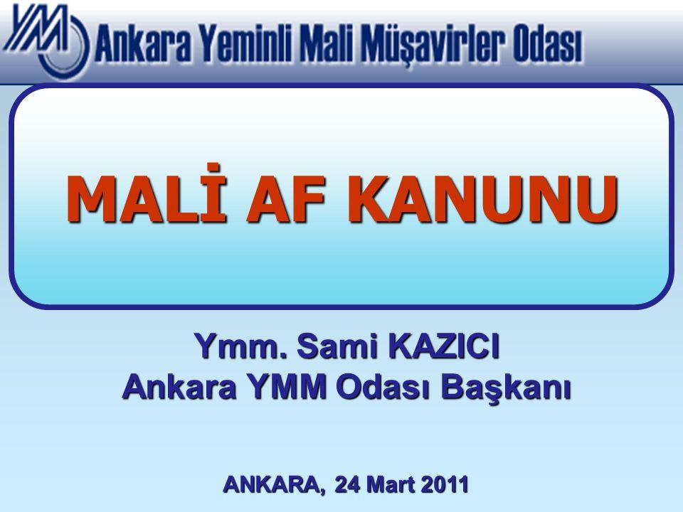 Ankara YMM Odası Başkanı