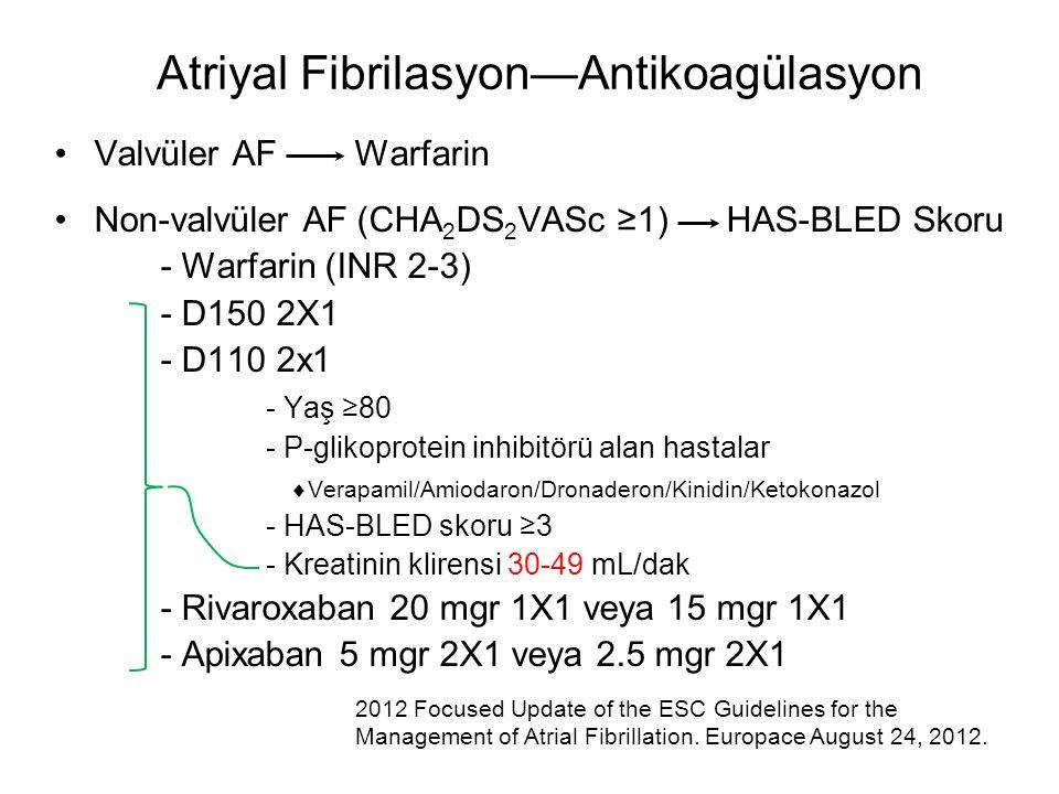 Atriyal Fibrilasyon—Antikoagülasyon