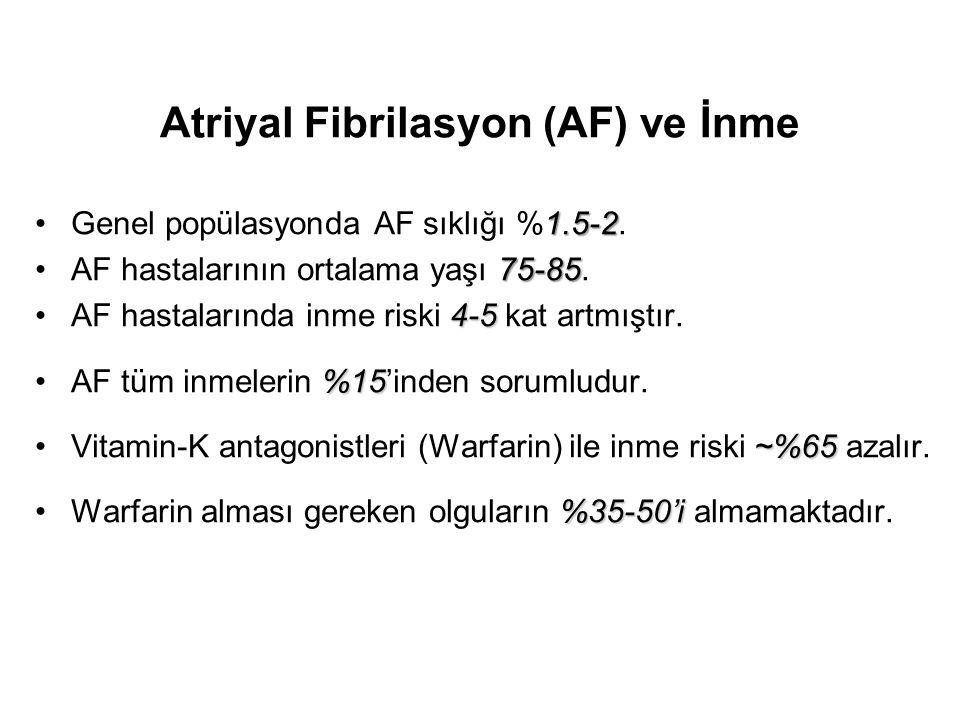 Atriyal Fibrilasyon (AF) ve İnme