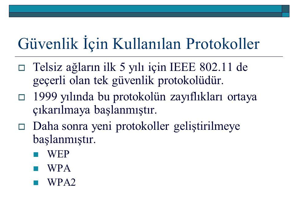 Güvenlik İçin Kullanılan Protokoller