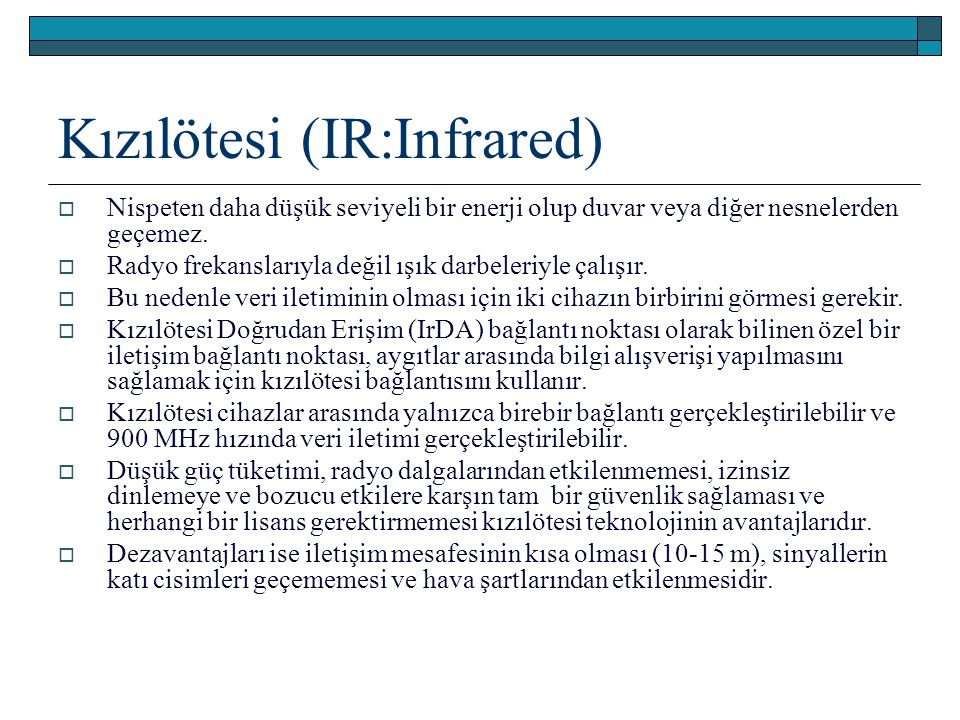 Kızılötesi (IR:Infrared)