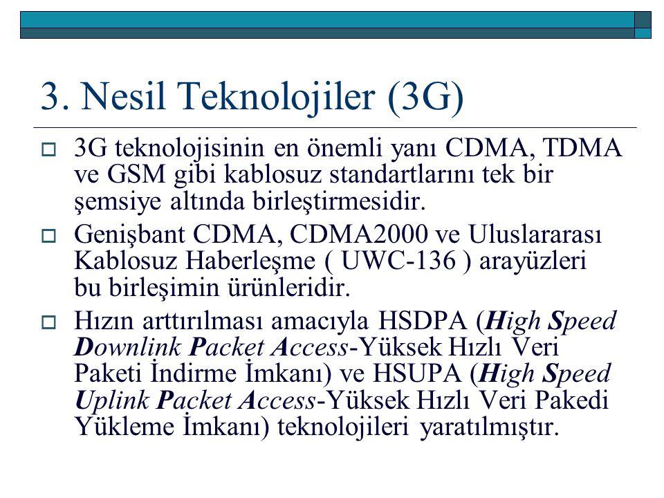 3. Nesil Teknolojiler (3G)