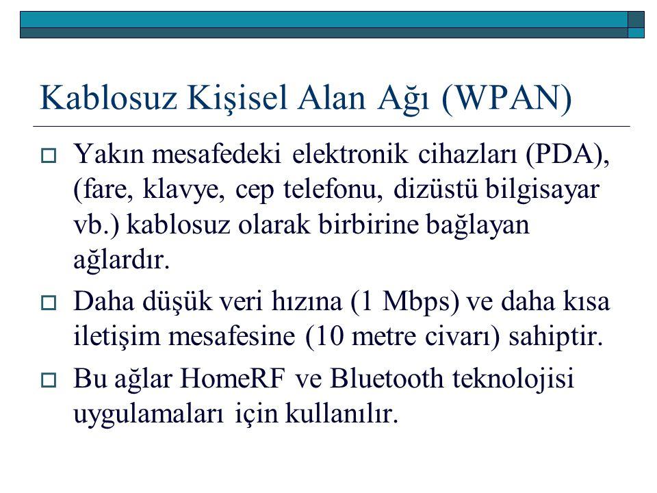Kablosuz Kişisel Alan Ağı (WPAN)