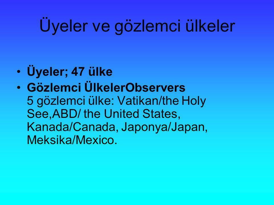 Üyeler ve gözlemci ülkeler