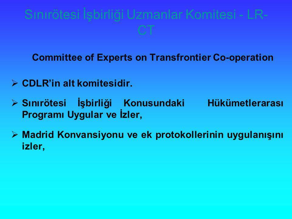 Sınırötesi İşbirliği Uzmanlar Komitesi - LR-CT