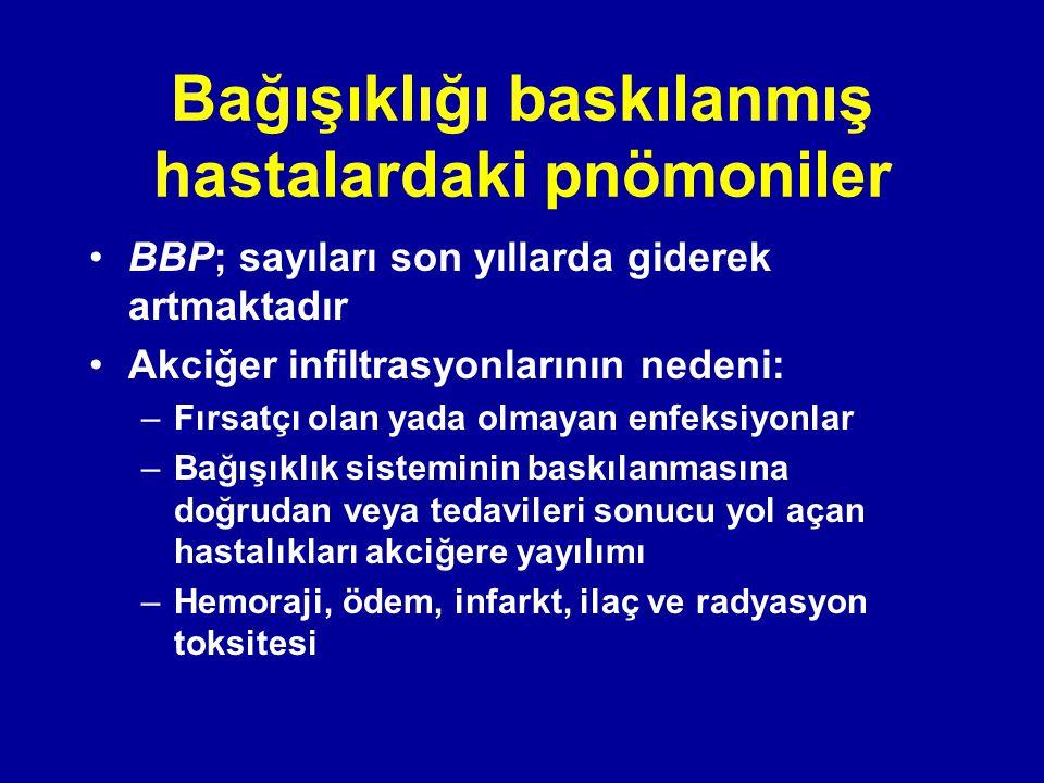 Bağışıklığı baskılanmış hastalardaki pnömoniler