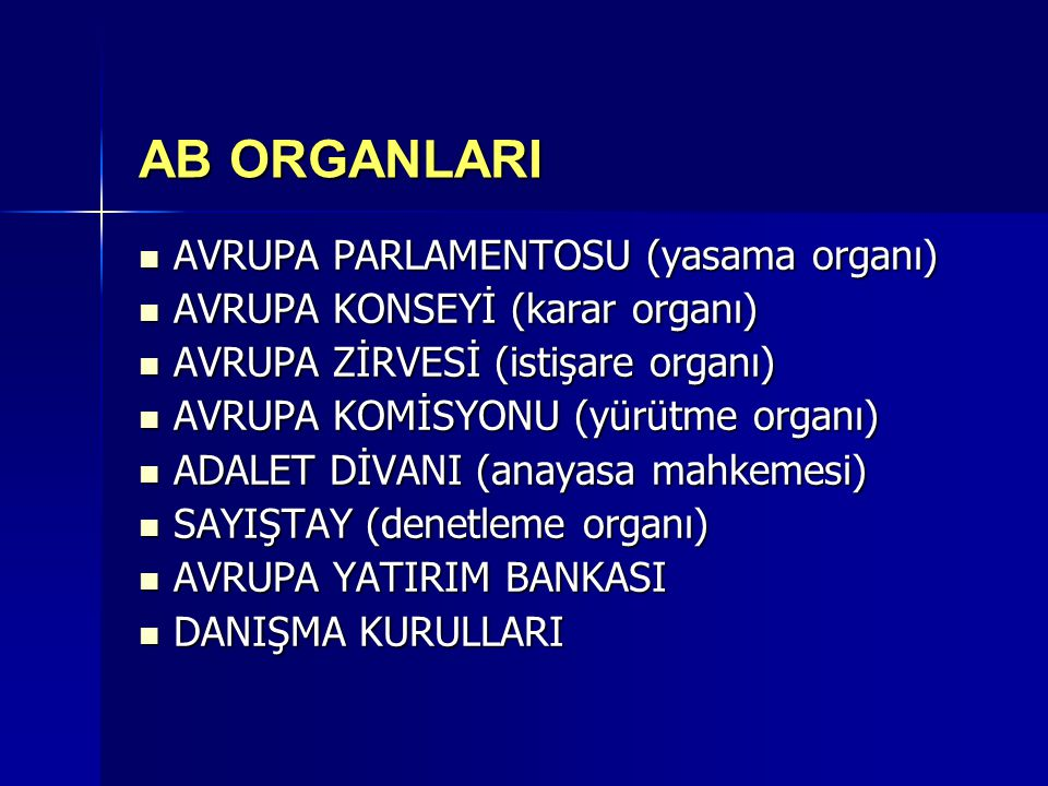 AB ORGANLARI AVRUPA PARLAMENTOSU (yasama organı)