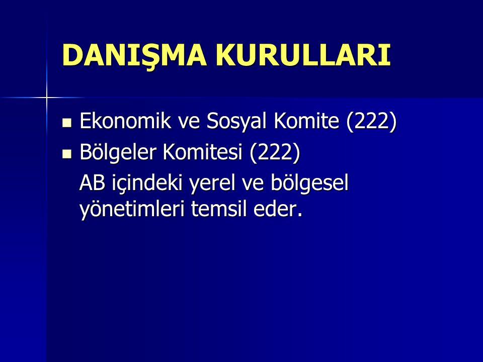 DANIŞMA KURULLARI Ekonomik ve Sosyal Komite (222)
