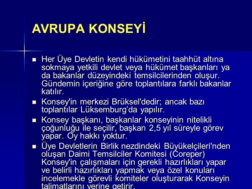 AVRUPA KONSEYİ
