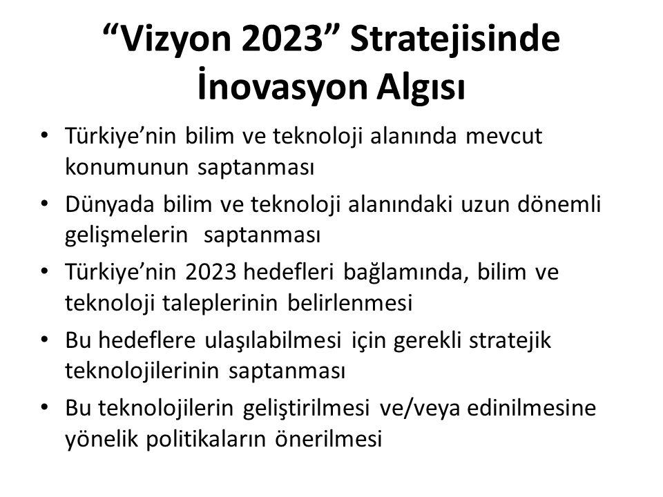 Vizyon 2023 Stratejisinde İnovasyon Algısı