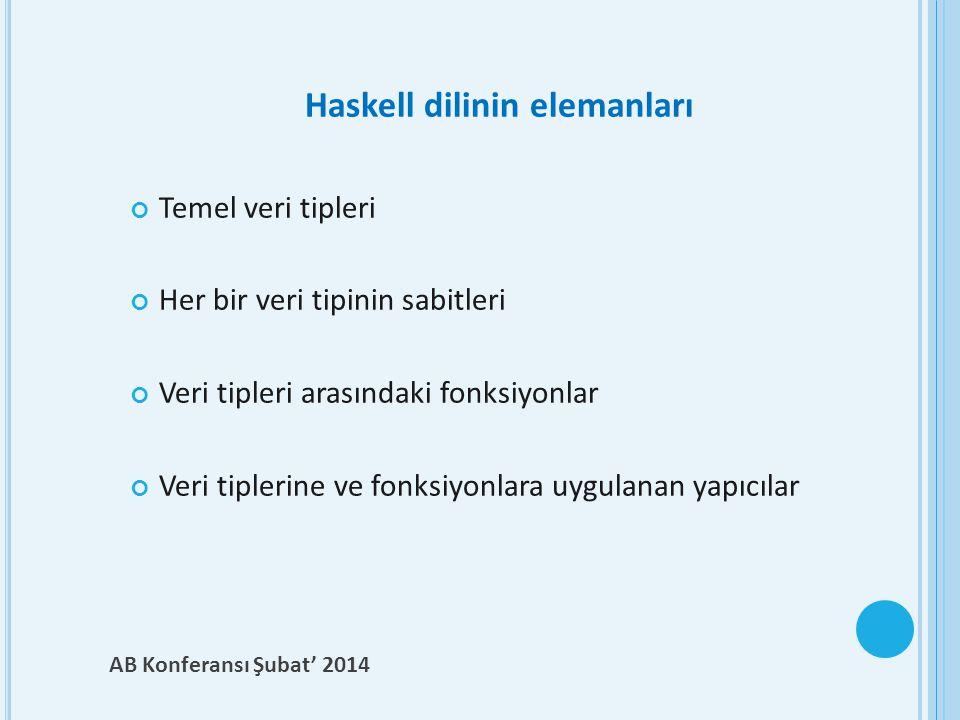 Haskell dilinin elemanları