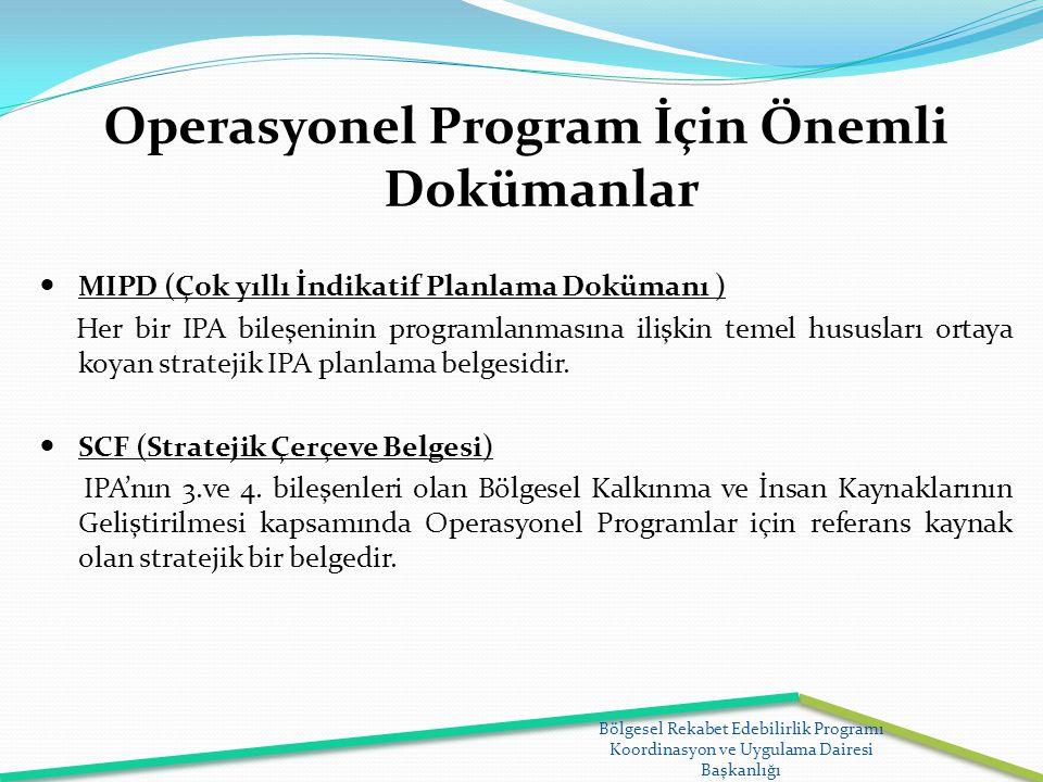 Operasyonel Program İçin Önemli Dokümanlar