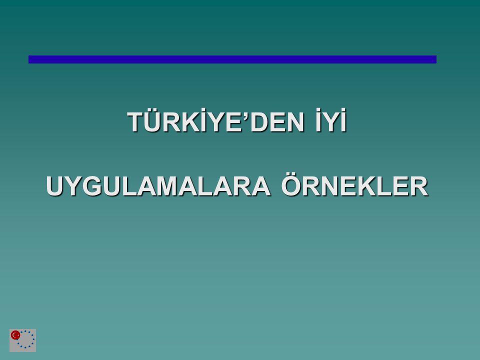TÜRKİYE'DEN İYİ UYGULAMALARA ÖRNEKLER