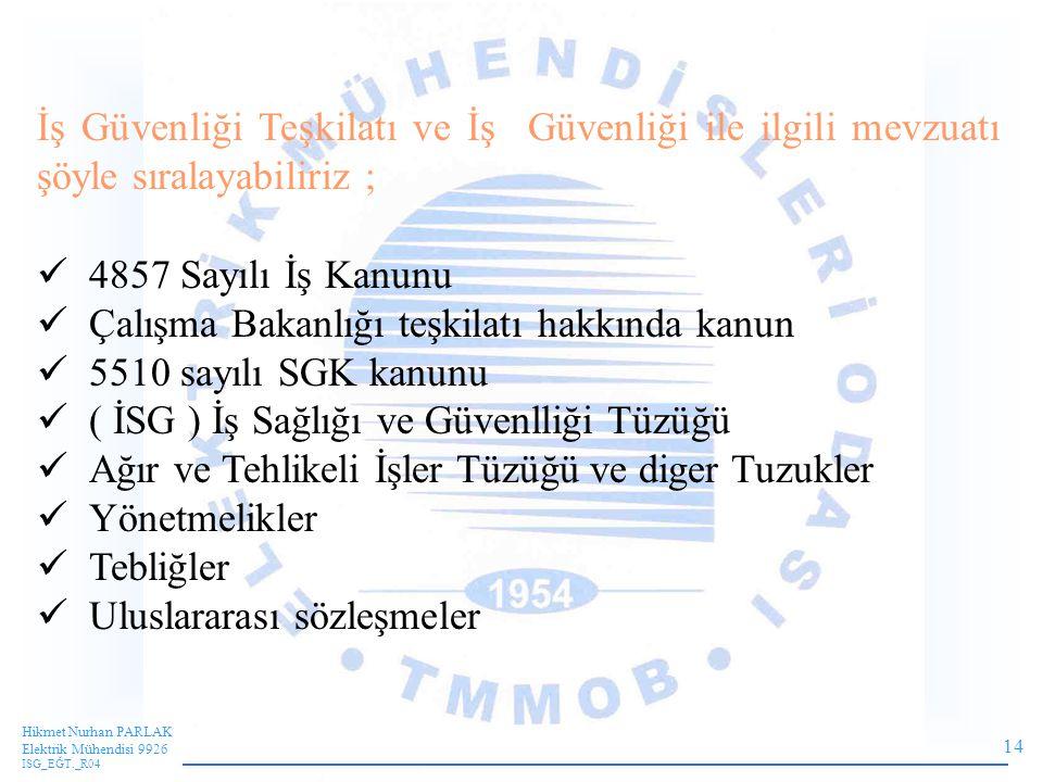 Çalışma Bakanlığı teşkilatı hakkında kanun 5510 sayılı SGK kanunu