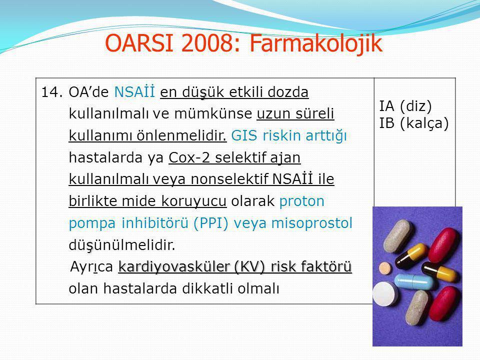 OARSI 2008: Farmakolojik