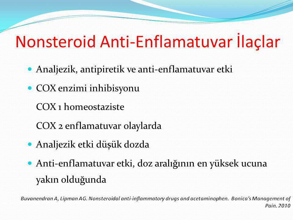 Nonsteroid Anti-Enflamatuvar İlaçlar