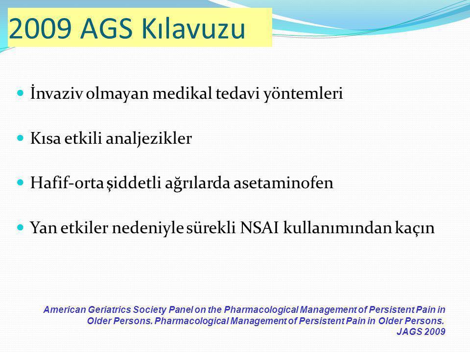 2009 AGS Kılavuzu İnvaziv olmayan medikal tedavi yöntemleri
