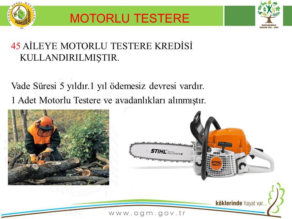 MOTORLU TESTERE