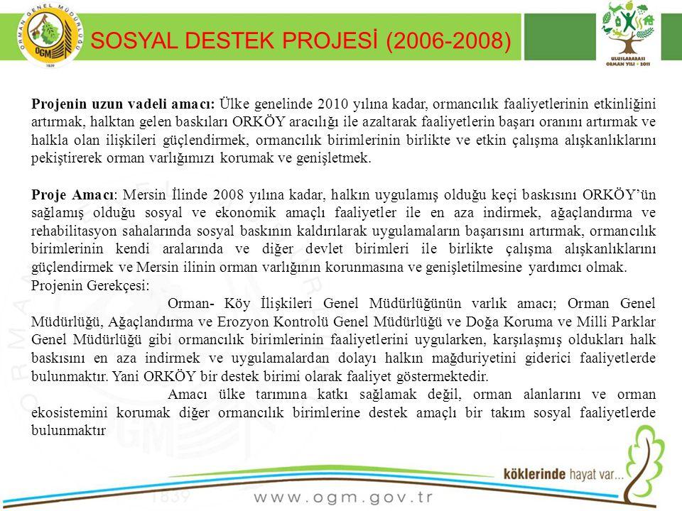 SOSYAL DESTEK PROJESİ (2006-2008)