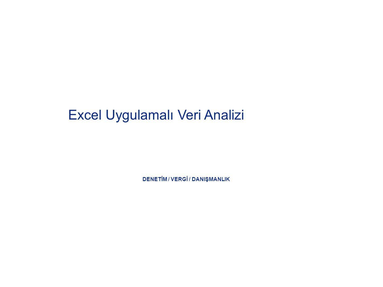 Excel'in bazı istatistik fonksiyonlarını öğrenmek: